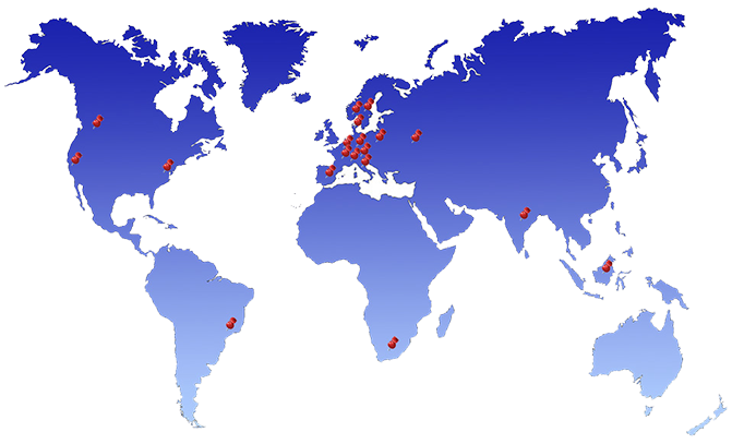 CBO Partner Weltkarte